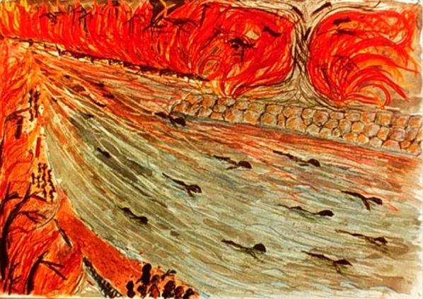 Painting by Hiroshima Survivor